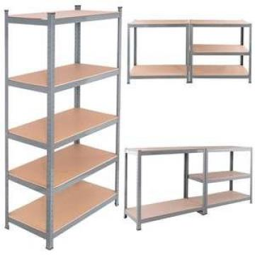 5 Layers Adjustable Mobile Metal Shelves